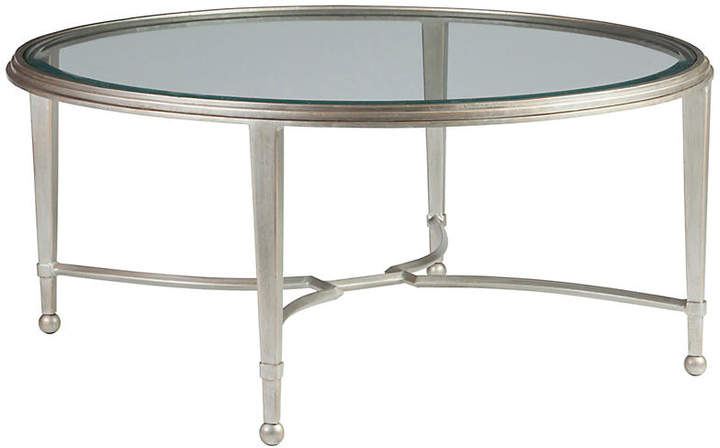 Sangiovese Round Coffee Table Argento Silver Artistica Round