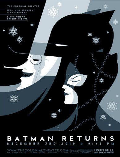 Batman Returns Art Deco Posters Movie Art Retro Poster