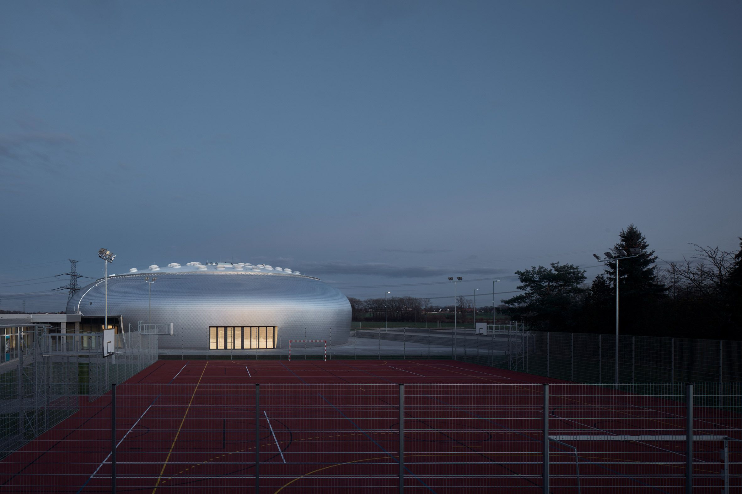 The Sports Hall Designed By Local Architecture Office Sporadical