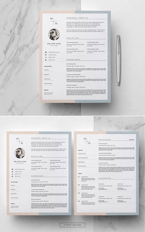 Resume Template _ Creative Resume Template for MS Word _ Stylish - resume te