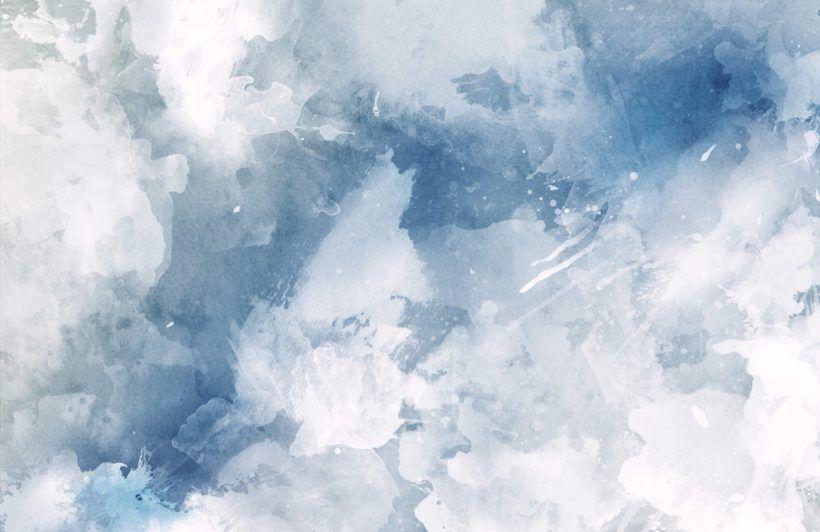 White & Blue Watercolor Wallpaper Mural   Murals Wallpaper