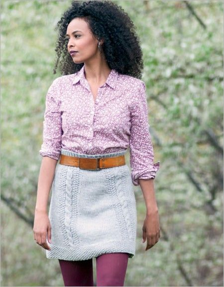 Bryn Mawr Skirt | InterweaveStore.com Knit Top Down to desired length.