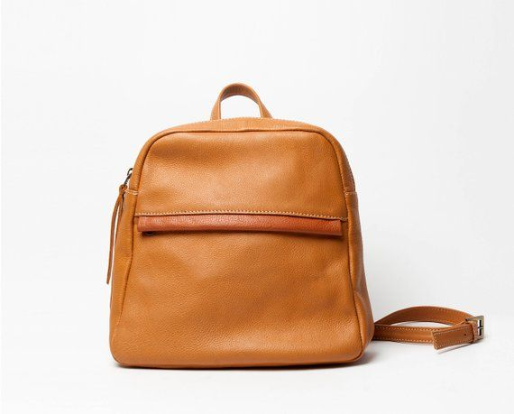 Brown leather backpack 8131958e7c01a
