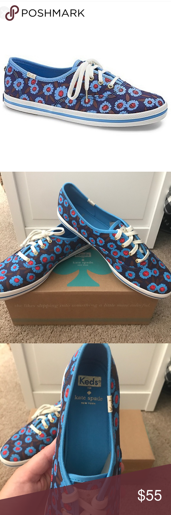 cb4986f3063a New in box keds for kate spade New never worn kate spade for keds sneakers  size 10 super cute blue