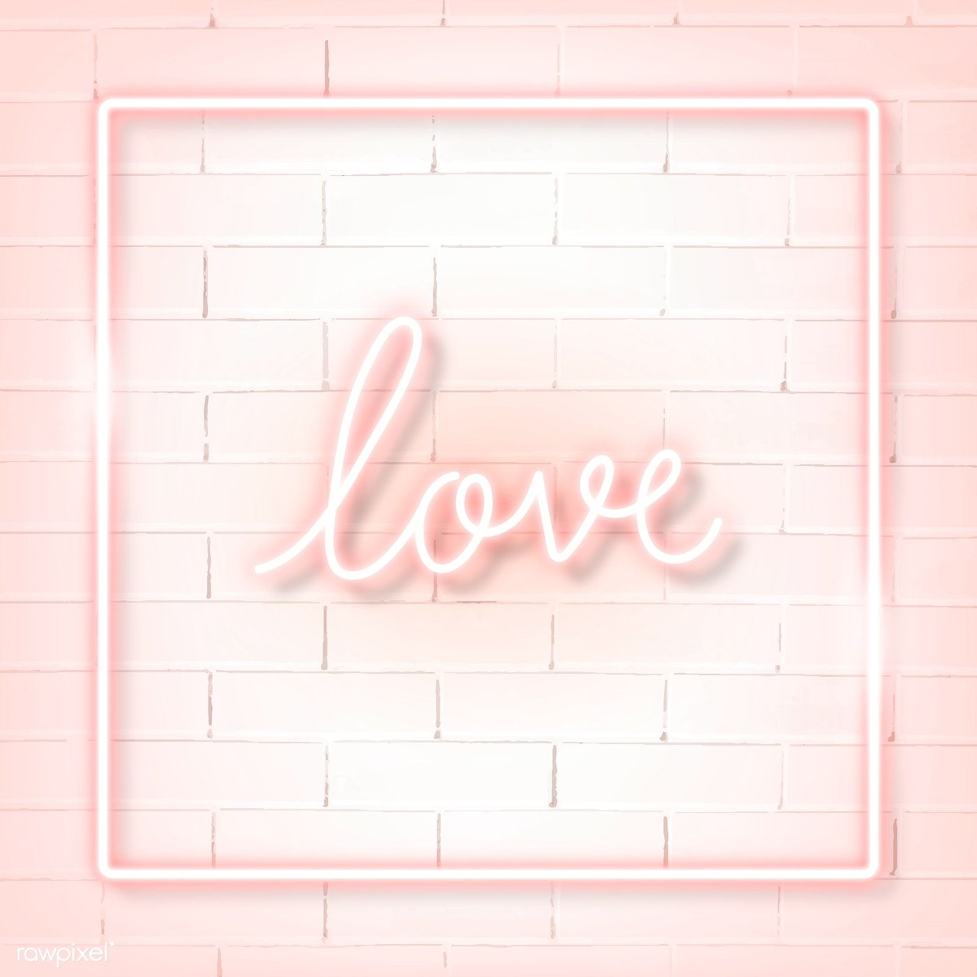 Download Premium Vector Of Square Pink Neon Frame On A White Brick Wall Pink Neon Sign Brick Wall Background Black Brick Wall