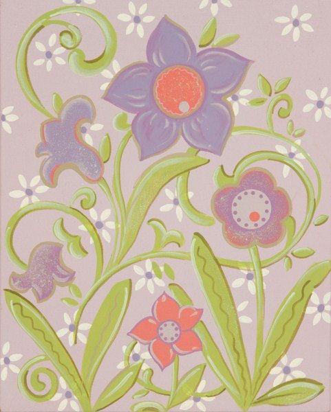 Lavender Walls   Glitter Lavender Flower 1 Canvas Wall Art - The ...