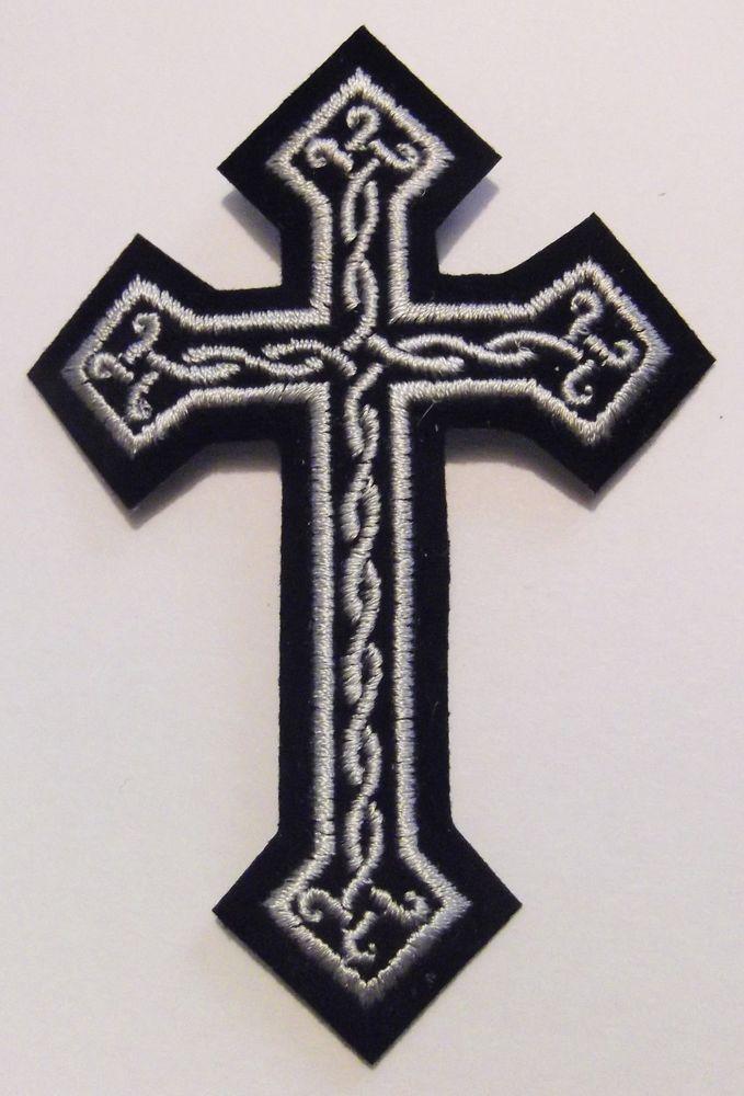 Red 1/%er Biker,Hooligan,Viking,Irish White /& Black Celtic Cross Diamond Patch