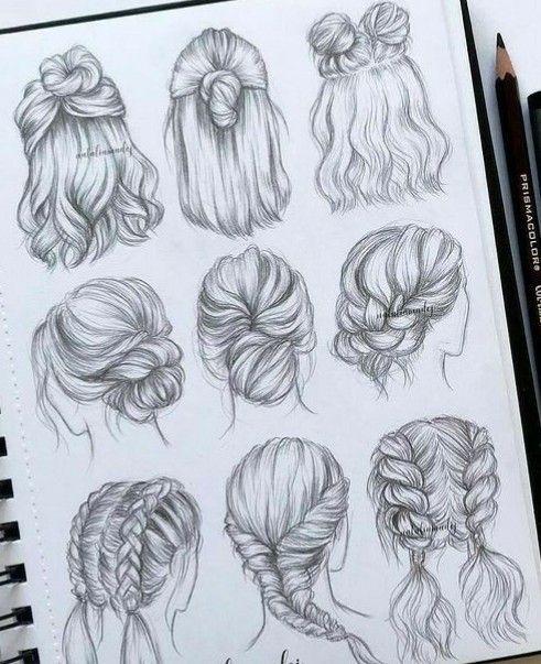 Untitled Frisuren Zeichnen Haare Zeichnen Haare Skizze