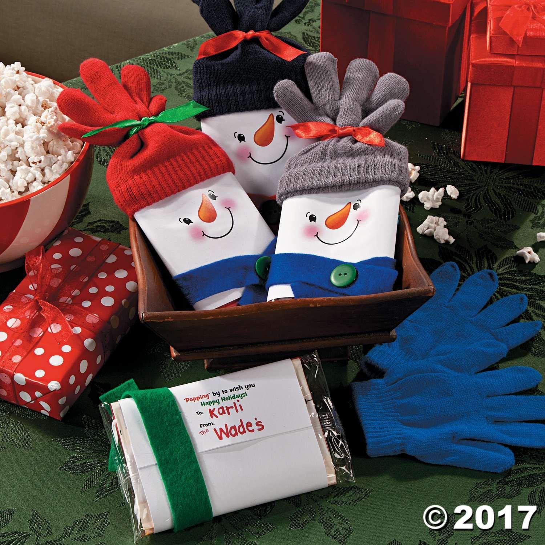 Snowman Popcorn Christmas Gift Iea  Xmas Presents