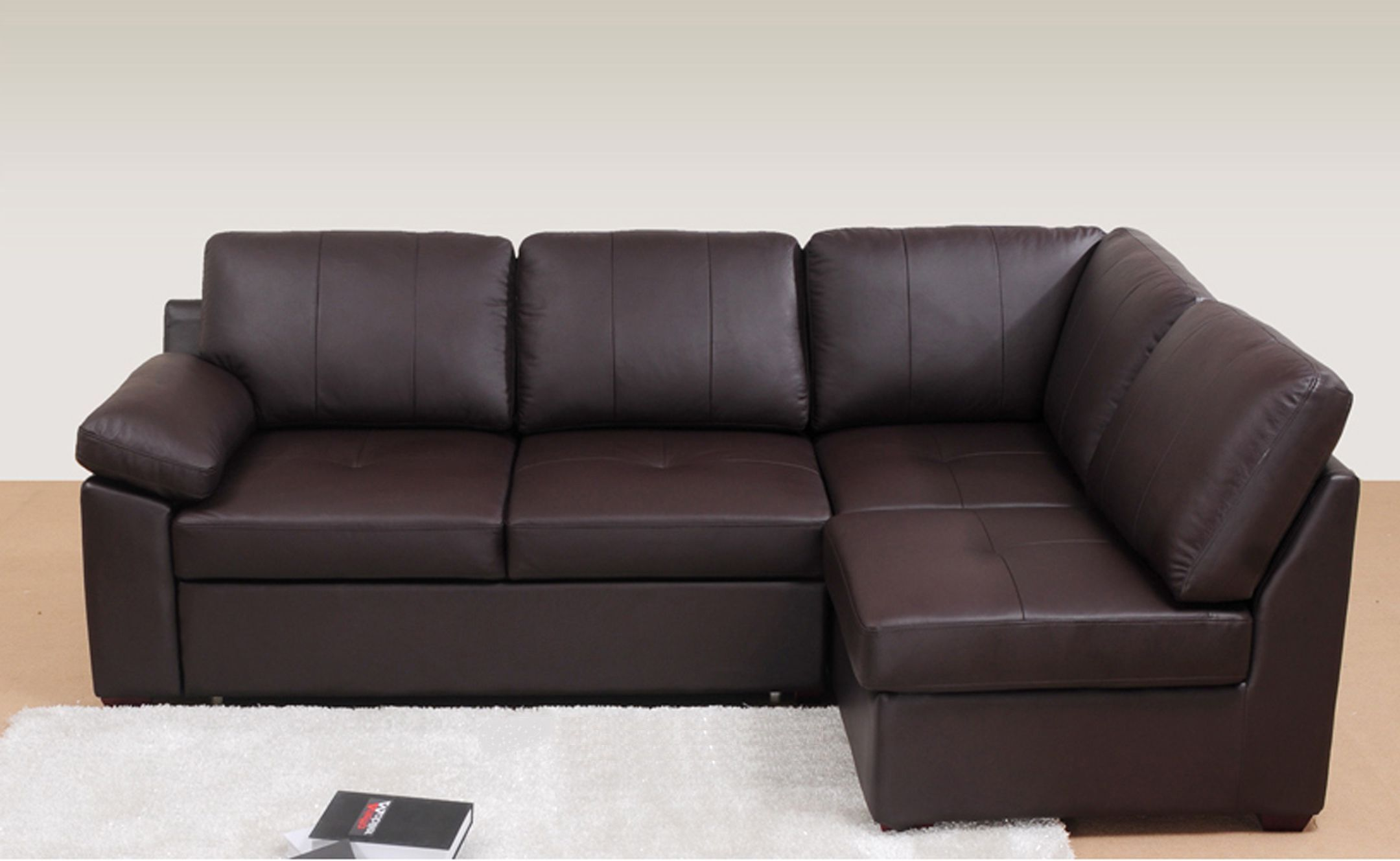 This beautiful leather Alonza corner sofa bed is available now from ...