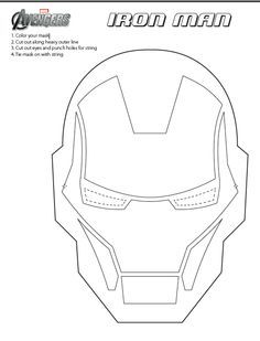 Get ready for avengers movie at walmart melissa for Iron man face mask template