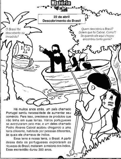 atividades sobre o descobrimento do brasil dirtado