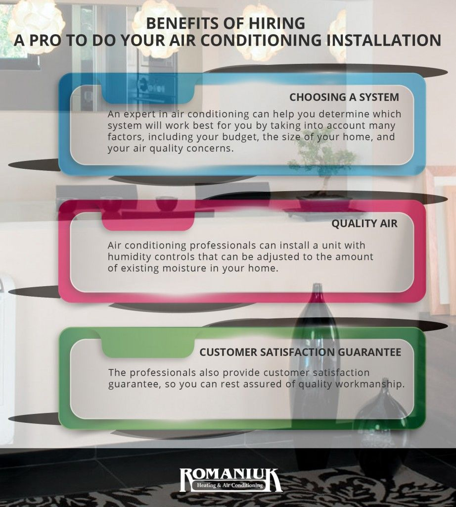 Benefits of hiring a pro to do your air conditioning