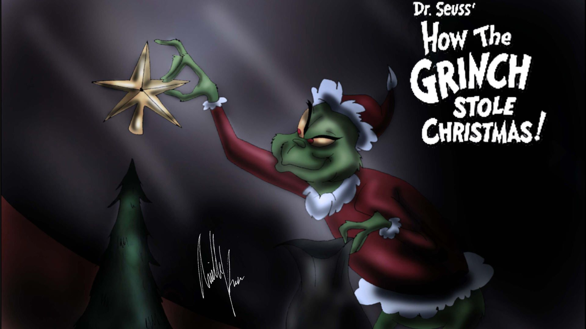 Grinch Christmas Wallpaper Grinch Stole Christmas Christmas Phone Wallpaper Christmas Wallpaper