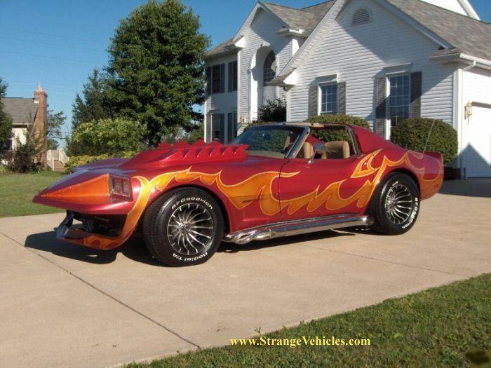 Cars With Flames Painted Strange Corvette Flames Paint Job