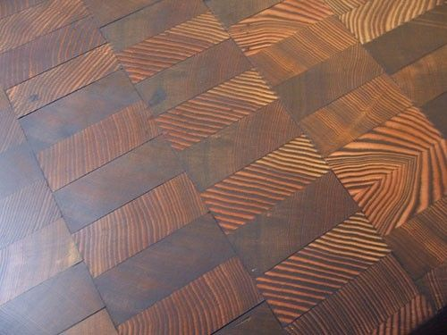 End Grain Wood Floors Possible Diy Project By Alfreda With