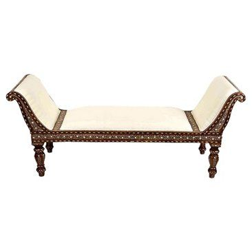 Check out this item at One Kings Lane! Anglo-Indian Bone Inlay ... on chaise sofa sleeper, chaise recliner chair, chaise furniture,