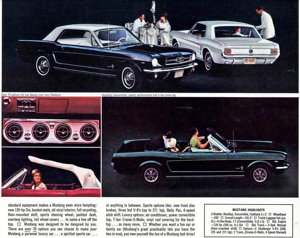 1965 Mustang Sales Brochure Mustangvintagecars