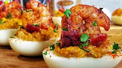 Creole Shrimp Deviled Eggs Recipe