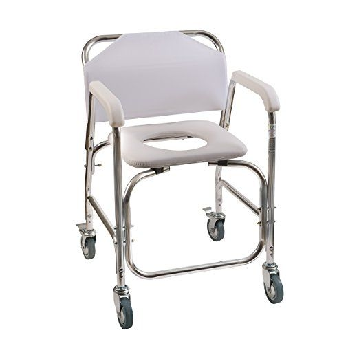 Duro Med Shower Chair With Wheels Commode Chair And