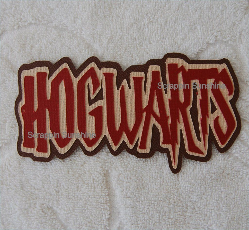 Hogwarts Harry Potter Universal Studios Die Cut Title For