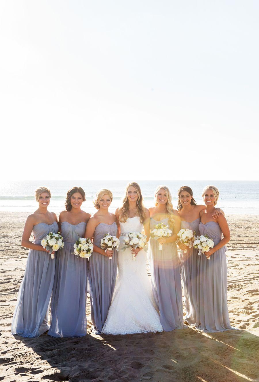 Romantic Winter Wedding At Verandas Beach House Beach Bridesmaid