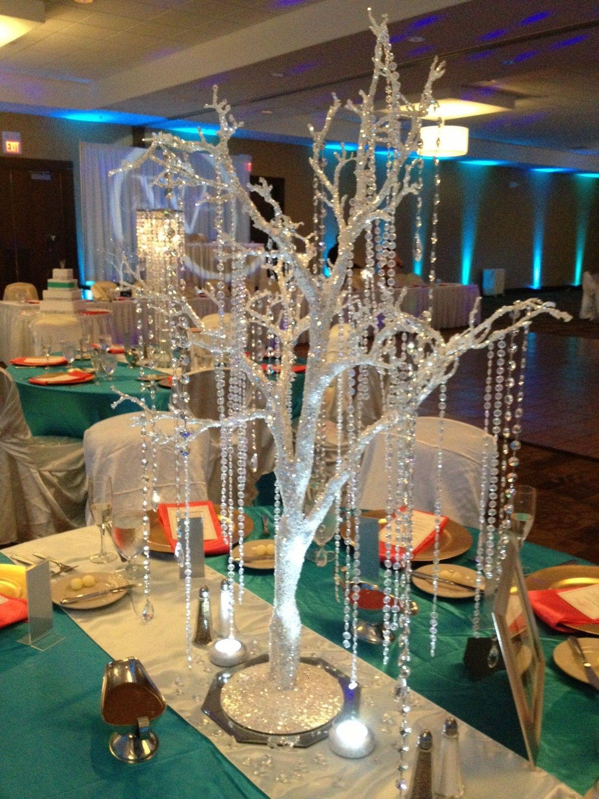Crystal Manzanita Tree Centerpiece Rental Crystalbloomweddings