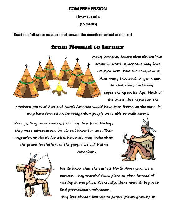 457bd3d92af67 From Nomad to Farmer Reading Comprehension  http   myreadingkids.com nomad