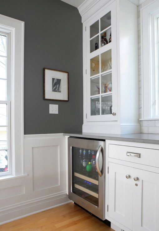 Normandy Remodeling Gorgeous Kitchen With Charcoal Gray Paint Color And Trim Painted Benjamin Moore Paper