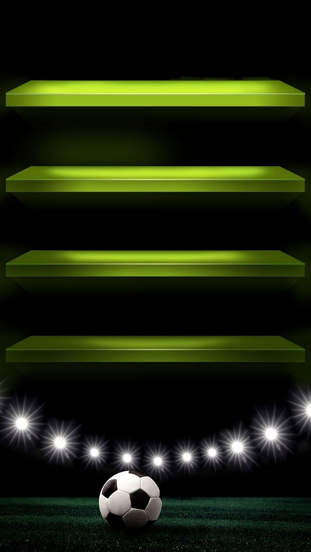 Tap And Get The Free App Shelves Homescreens Sports Football Soccer Sparkle Dark Black Green Hd Iphone 5 W Wallpaper For Iphone 4 Wallpaper Iphone Wallpaper
