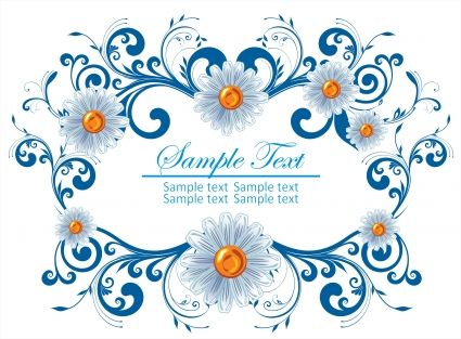 Floral frame vector Free vector in Encapsulated PostScript eps ...