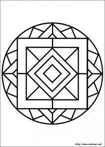 11 Mandalas Para Colorear Con Figuras Geometricas 5 Con