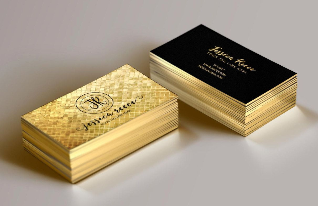 Gold Foil Business Card, Event Planner Business Card, Boutique ...