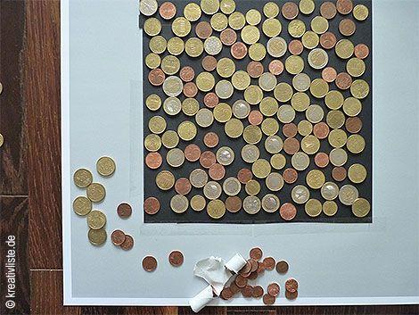 Geldgeschenk Mit Munzen Basteln Als Wandbild Zur Hochzeit
