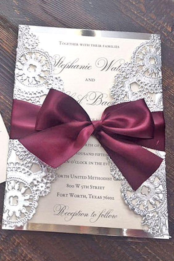 Affordable Laser Cut Wedding Invitations