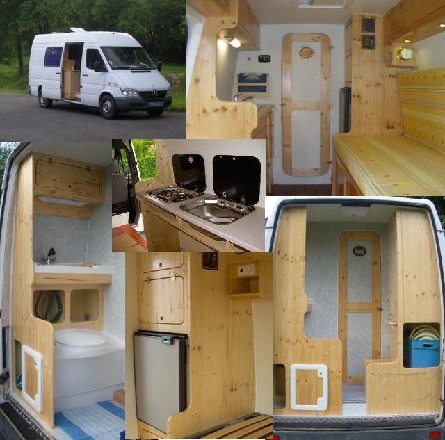 Amenagement interieur de fourgon en camping car