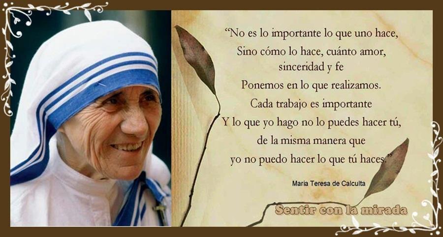 Frases De Madre Teresa De Calcuta Sobre La Jmj 2013 Buscar Con