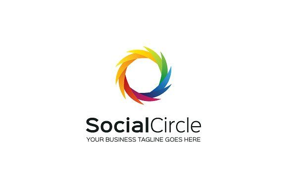 socialcircle logo template by mudassir101 on creativemarket ロゴ
