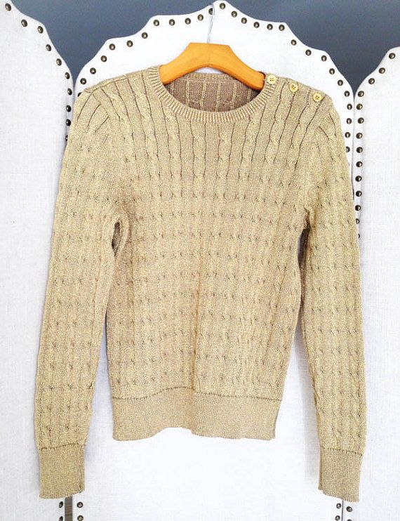 Gold Lurex Sweater