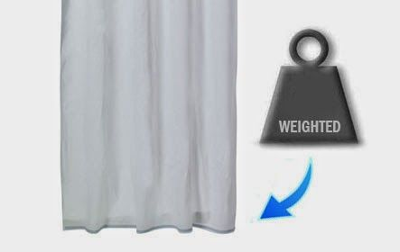 Weighted Hem Shower Curtain