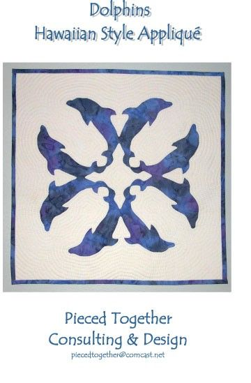 Dolphins Hawaiian Style Applique Quilt Pattern   Applique quilt ... : hawaiian quilt tattoo - Adamdwight.com