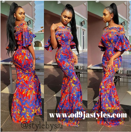 20 Bright and Beautiful Ankara Styles Gown: Ankara Long Gown Styles ...