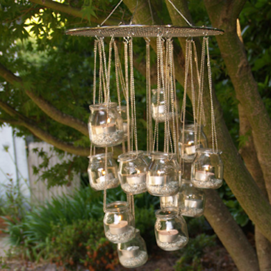 Outdoor hanging candle chandelier diy home decor pinterest outdoor hanging candle chandelier aloadofball Choice Image