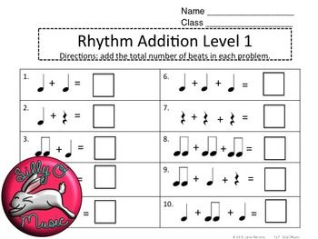 Rhythm Addition Music Math Worksheets Music Math Math Math Worksheets