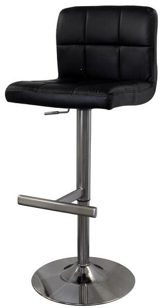 Swell Bartok Leather Bar Stool With Brushed Steel Frame And Padded Cjindustries Chair Design For Home Cjindustriesco