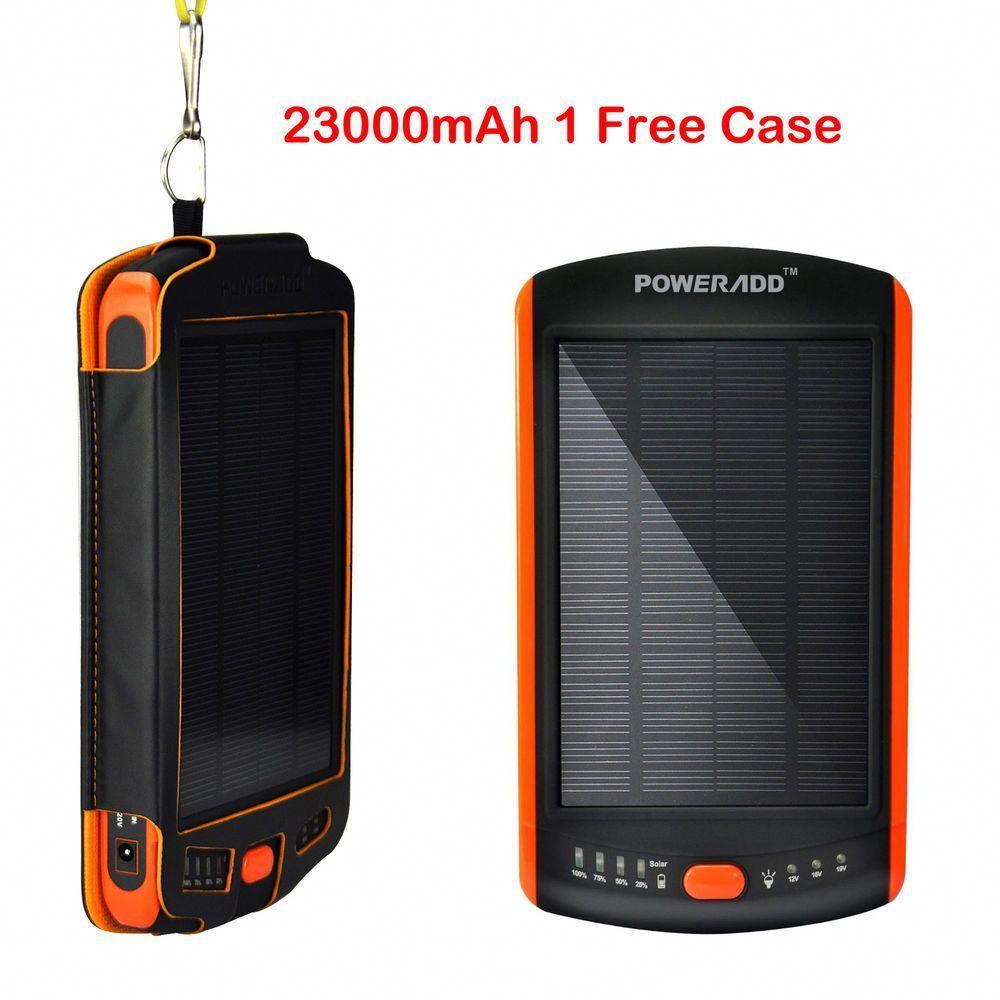 23000mah 5v 9v 12v 16v 19v Solar Panel Mobile Power Bank Charger Battery For Pda Solar Battery Bank Power Bank Charger Solar Energy