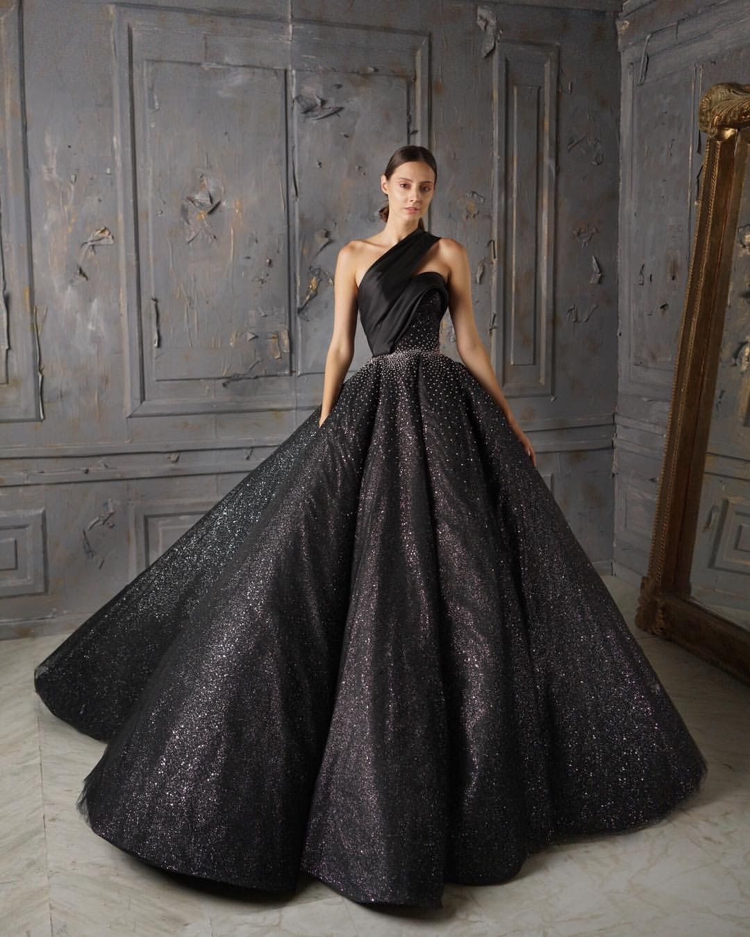 Pin by PromDressErin on Sparkly Dresses | Black ball gown ...