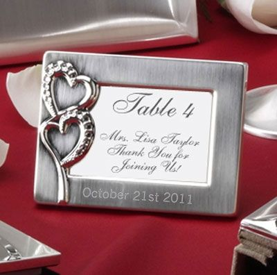 Everlasting Mini Frame Place Card Holder Wedding Favour Engrave Your Names And