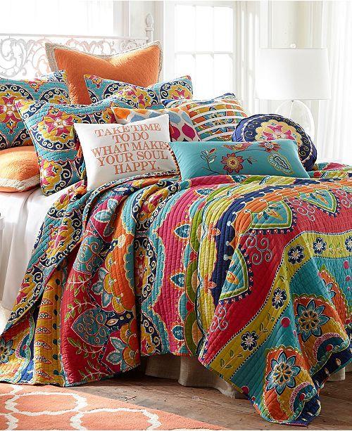 Levtex Home Amelie Full Queen Quilt Set Reviews Quilts Bedspreads Bed Bath Macy S Quilt Sets Bedding Cotton Quilt Set Bright Bedding