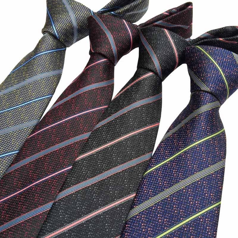 HOT Solid 7CM Silk man tie handkerchief set Navy Blue Plain Wedding Party Ties